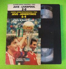 VHS film SUPERCOPPA EUROPEA 1985 JUVE LIVERPOOL 2-0 ARGENTINOS 6-4 (F107) no dvd