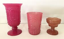 NEW Pottery Barn Pressed Glass Votives, SET OF 3