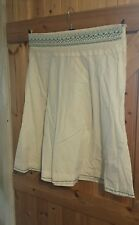 """New Skirt By Kushi Cream With Embroidered Detail Size 16 W36"""" Skirt Length 25"""""""