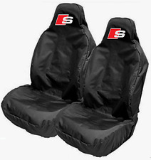 Audi S-LINE Car Sports Large Seat Covers Protectors Q3 Q5 Q7 A8 A7 R8 A3 A4 TT