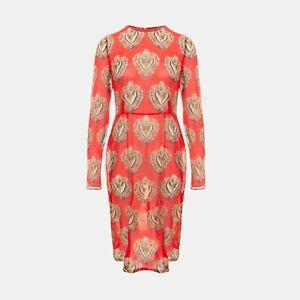Dolce & Gabbana Sacred Heart Stretch-Chiffon Dress In Red RRP £1650