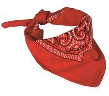 Westernhalstuch Bandana Country Halstuch Kopftuch Biker Tuch Paisley Rot