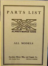 1916-1924   Excelsior  Motorcycle Parts  List  For  all  models  Free  Shipping