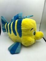 The Little Mermaid Flounder Yellow Fish Disney Plush Kids Stuffed Toy Animal
