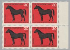 Berlin (West) 328 Für die Jugend: Pferde: Warmblut Viererblock **