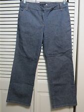 J.CREW Cotton Blend Denime Wide Leg Crop Size 8