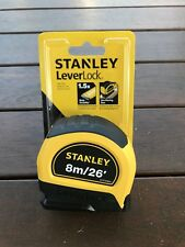 STANLEY Lever lock ✅👍✅8m METRIC Imperial TAPE MEASURE Nylon Tape ✅🔨👍