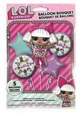 L.O.L. SURPRISE! Happy Birthday Party Favor 5CT Foil Balloon Bouquet