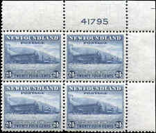 Mint NH Canada Nfdland 1941-44 Block of 4 VF 24c Scott #264 Definitive Stamps