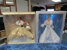 2000 Celebration Teresa & 2003 Winter Fantasy Holiday Visions Barbie - Nrfb!