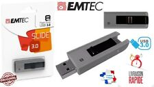 Clé USB 3.0 8Go 8Gb  Slide 3.0 Gris Clef key 8GO 8GB USB 3.0 EMTEC B250 Slide