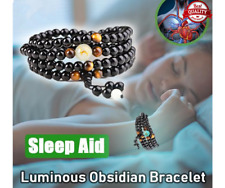 Sleep Aid Magnetic Therapy Obsidian Bracelet