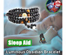 6/8MM Sleep Aid Magnetic Therapy Obsidian Bracelet -FREE SHIPPING US SH
