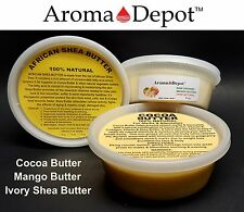 8 oz Raw Shea Butter Cocoa Butter Mango Butter Pure Organic Natural Unrefined