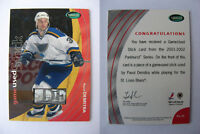 2001-02 Parkhurst PS-35 Pavol Demitra 1/1 letter nameplate SICK STICKS 1 of 1