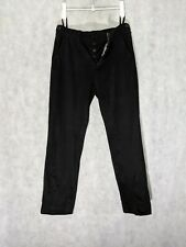 Helmut Lang Vintage Black Durable Chino Cotton Pants Side Straps 50 Italy