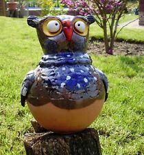 Garten Kugel Keramik Dekoration Figur Eule Handarbeit