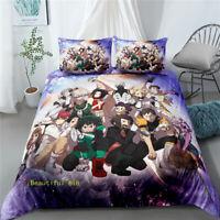 My Hero Academia Single/Double/Queen/King Bed Quilt Doona Duvet Cover Set