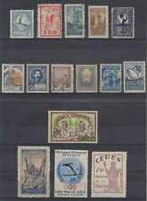 ARGENTINA 1920-40 SURTAX, CINDERELLA & LABELS 15 SINGLES ON CARD OLYMPICS, CERES