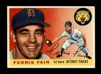 1955 Topps Baseball #11 Ferris Fain (Tigers) NM