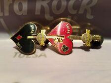 2 Hard Rock Tulsa Pin collectors puzzel rare casino key spade heart 2013 couple
