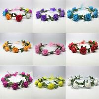 Beauty Flower Headband Hollow Elastic Hair Band Party for Girls Wedding Decor