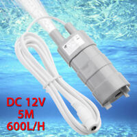 DC 12V 50W Tauchpumpe Wasserpumpe Pumpe 4500L//H für Teich Boot mit 1.64m Kabel