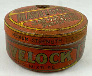 HAVELOCK SPECIAL SMOKING MIXTURE MEDIUM STRENGTH 2 OUNCE RED TOBACCO TIN