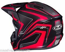 HJC CS-MX2 Motocross Helmet Edge Red L LG Large ATV CS-MX CSMX II 2 CS-MXII