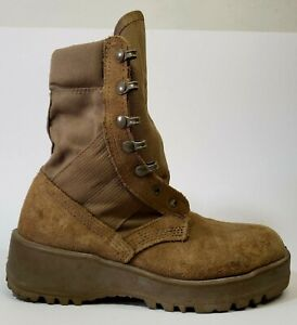 Army Combat Boots Coyote Vibram Sole Military Boots SPE1C1-17-D-1004 Size 5 W