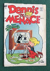Dennis the Menace #12 Standard Fawcett Bronze Age 1955 Hank Ketcham fr/g