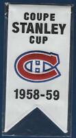 08-09 MONTREAL CANADIENS CENTENNIAL STANLEY CUP MINI BANNER 1958-59 SEALED 17803