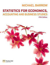 Statistics for Economics, Accounting and Business Studies, Michael Barrow, Good,