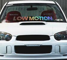 Windshield Window Car Decal Sticker Banner Graphics Vinyl JDM Stance Motion Low