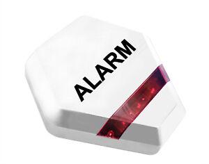 Dummy Alarm Bell Box - Decoy Burglar Alarm Bell Box - Solar Powered LED Lights