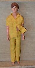 Talking KEN vintage MOD ERA dressed in Yellow PJ's MUTE!