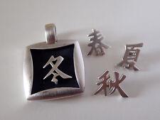 PIERRE LANG Anhänger RH matt mit chinesischen Schriftzeichen 4 Jahreszeiten