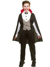 Kids Boys Spooky Bloodthirsty Vampire Halloween Costumes Fancy Dress 3-4 Years