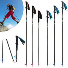4-Section Ultralight Carbon Fiber Folding Trekking Pole Walking Stick Quick-lock