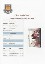 ELLIOTT WARD WEST HAM UTD 2003-2006 ORIGINAL HAND SIGNED SHOOT OUT CARD