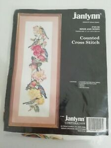 Janlynn Donna Giampa counted cross stitch 125-56 Birds and Roses