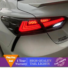 New LED Taillights Assembly For Toyota Camry Smoke+Chrome+Red LED Rear lights