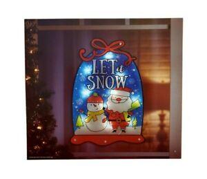 Christmas Lighted Snowglobe Instant Décor Window Decoration – 1 Piece