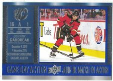 2016-17 Upper Deck Tim Hortons Game Day Action Johnny Gaudreau Calgary Flames