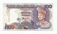 """MALAYSIA  RM100  AHMAD DON TDLR  FIRST PREFIX  AG_6027983  """"EF"""""""