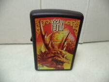 ZIPPO ACCENDINO LIGHTER GOLDEN DRAGON BY MAZZI CLAUDIO VERY RARE  NEW.