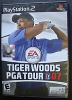 TIGER WOODS PGA TOUR 07 PS2 SONY PLAYSTATION 2 WORKING