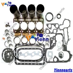 V1702 V1702B Overhaul Rebuild Kit For Kubota Piston Liner Gasket Bobcat 743 733