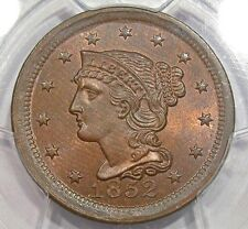 1852 Large Cent PCGS MS 64 RB Red Brown Reverse Is Mostly Red
