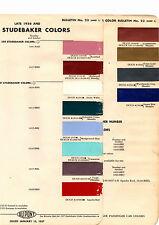 LATE 1956 1957 STUDEBAKER CHAMPION COMMANDER PRESIDENT HAWK PAINT CHIPS DUPONT3